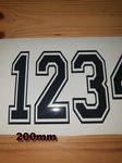 200mm Race Number with Outline